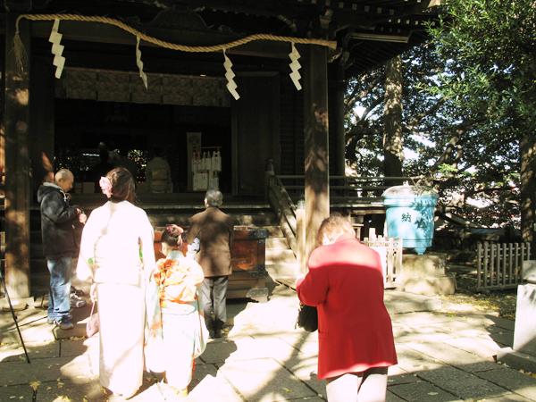 諏訪神社 谷根千 七五三