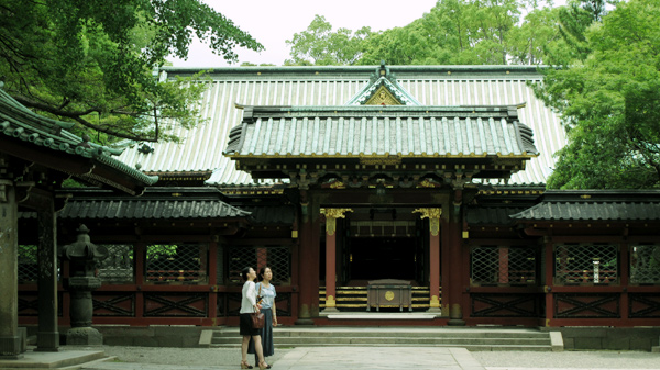 根津神社 本殿入口