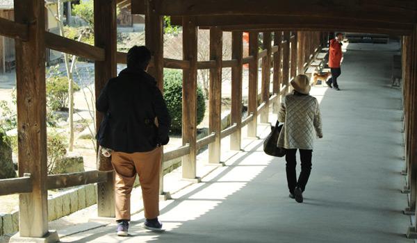 吉備津神社 廊下